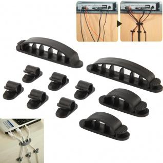 10 in 1 Flexible Kabel Organizer für Elektrokabel Datenkabel Schwarz Zubehör