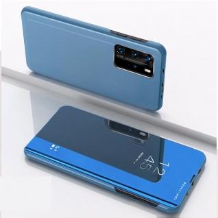 Für Xiaomi Mi 10T / 10T Pro 5G View Smart Cover Hülle Blau Handy Tasche Etuis