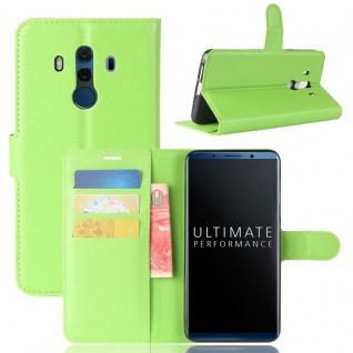 Tasche Wallet Premium Grün für Huawei Mate 10 Pro Hülle Case Cover Etui Schutz