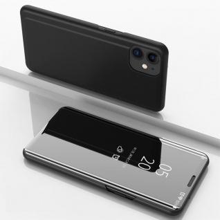 Für Apple iPhone 12 Mini View Smart Cover Hülle Schwarz Handy Tasche Wake UP Neu