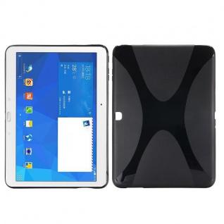 Silikonhülle Schwarz für Samsung Galaxy Tab 4 SM-T530 T530 Hülle Case Cover Neu