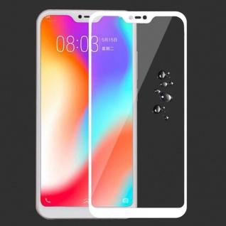 Für Xiaomi MI A2 Lite / Redmi 6 Pro 3D Display 0, 3 mm H9 Hart Glas Weiß Folie