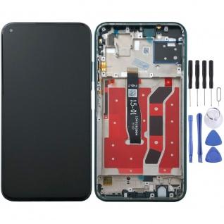 Für Huawei P40 Lite Display Full LCD + Rahmen Touch Reparatur Ersatzteil Grün