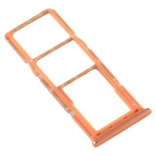 Dual Sim Karten Halter für Samsung Galaxy A70 Orange Card Tray Micro SD Ersatz - Vorschau 4