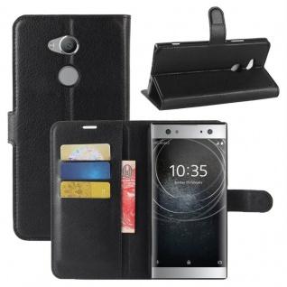 Tasche Wallet Premium Schwarz für Sony Xperia XA2 Ultra Hülle Case Cover Schutz