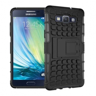 Hybrid Case 2 teilig Robot Schwarz Cover Hülle für Samsung Galaxy A3 A300 A300F
