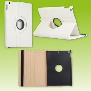 Für Apple iPad 10.2 Zoll 2019 2020 Weiß 360 Grad Etui Tablet Tasche Kunst-Leder