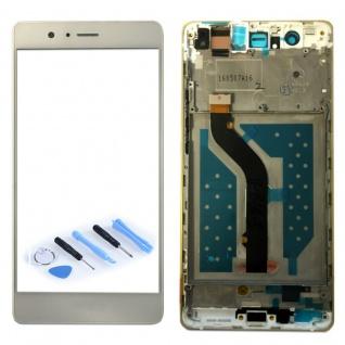Full Display LCD mit Rahmen Komplett für Huawei P9 Lite Weiß Reparatur Touch Neu