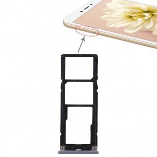 Für Xiaomi Redmi Note 5A Karten Halter Sim Tray Schlitten Holder Ersatz Grau Neu