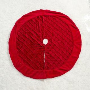 Rote 100 cm Weihnachtsbaum Unterlage Karriert Christbaum Decke Abdeckung Deko