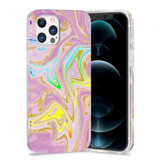 Für Apple iPhone 12 / 12 Pro TPU Watercolor Schutz Hülle Cover Etui Motiv 5