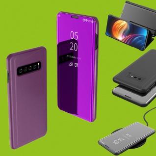Für Samsung Galaxy S10 Lite / S10E G970F 5.8 Clear View Smart Cover Lila Tasche