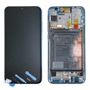Huawei Display LCD Rahmen für Honor 10 Lite Service 02352GWN Blau Batterie Neu