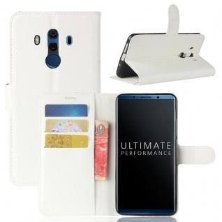 Tasche Wallet Premium Weiß für Huawei Mate 10 Pro Hülle Case Cover Etui Schutz