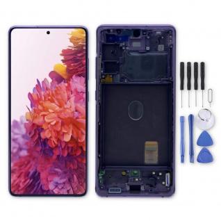 Samsung Display LCD Kompletteinheit für Galaxy S20 FE 5G GH82-24214C Lila