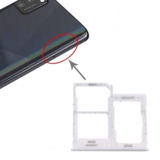 Dual Sim Karten Halter für Samsung Galaxy A41 Weiß Card Tray Micro SD Ersatzteil