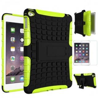Hybrid Outdoor Schutzhülle Grün für iPad Mini 4 Tasche + 0.3 H9 Panzerglas Case