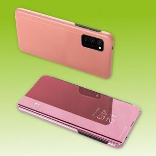 Für Samsung Galaxy A41 A415F View Smart Cover Hülle Pink Handy Tasche Etuis Case