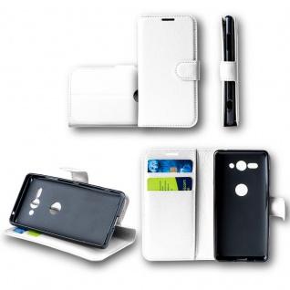 Für Huawei Y6 2018 Tasche Wallet Premium Weiß Hülle Case Cover Schutz Etui Neu