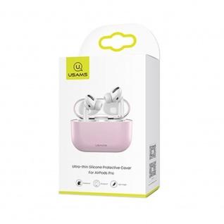 USAMS Apple AirPods Pro Cover Pink Schutzhülle Tasche Case Etui
