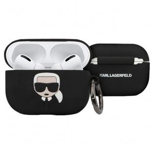 Karl Lagerfeld Silikon Cover für Apple AirPods Pro Schwarz Hülle Tasche Case
