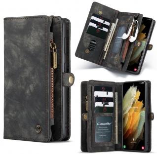 Handy Tasche für Samsung Galaxy S21 CaseMe Geldbeutel + Etui Hülle Schwarz