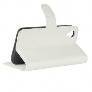 Tasche Wallet Premium Weiß für Wiko Sunny 2 Hülle Case Cover Etui Schutz Zubehör - Vorschau 4