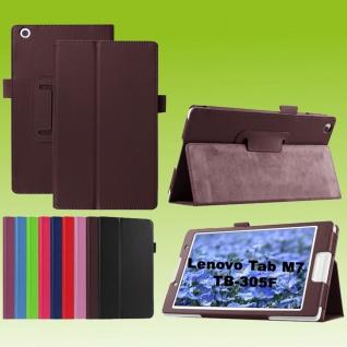Für Lenovo Tab M7 TB-7305F Braun Kunst-Leder Hülle Cover Tablet Tasche Etuis Neu