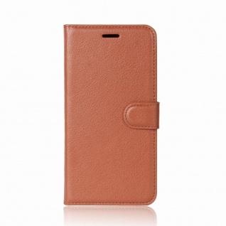 Tasche Wallet Premium Braun für Wiko Sunny 2 Plus Hülle Case Cover Etui Schutz - Vorschau 3
