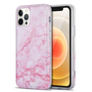 Für Apple iPhone 12 Mini Muster Silikon TPU Handy Tasche Hülle Pink