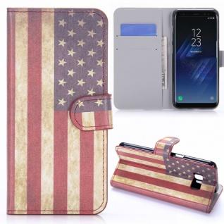 Schutzhülle Motiv 10 für Samsung Galaxy S8 G950 G950F Tasche Hülle Case Flip Neu