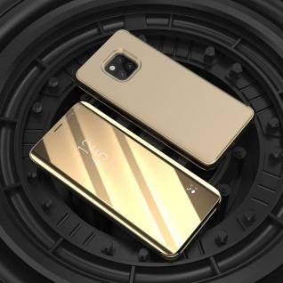 Für Samsung Galaxy J4 Plus J415F Clear View Smart Cover Gold Case Tasche Wake UP