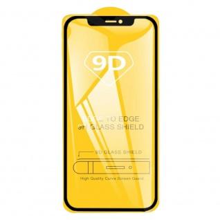 Für Apple iPhone 12 6.1 2x 9D Display LCD Curved H9 Glas Schwarz Folie Panzer