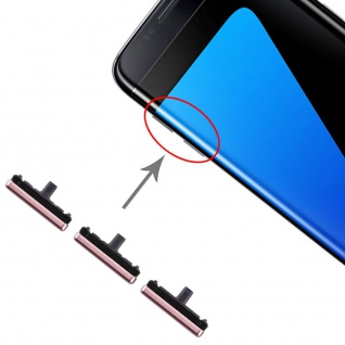Für Samsung Galaxy S7 Edge Sidekeys Seitentasten Pink Ersatz Zubehör Reparatur
