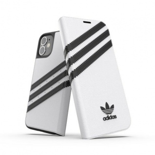 Adidas OR Bookcover Tasche für Apple iPhone 12 Mini Weiß Hülle Case Cover