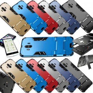 Für Huawei P Smart Plus Metal Style Outdoor Silber Tasche Hülle Cover Schutz Neu - Vorschau 2