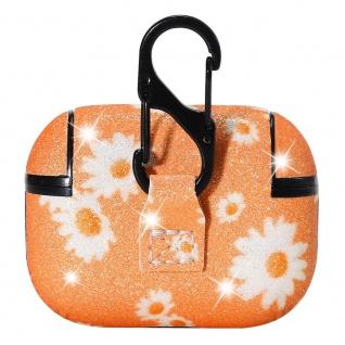 Apple Airpods Pro Cover Ring Orange Schutzhülle Cover Tasche Case Etui Halter - Vorschau 3