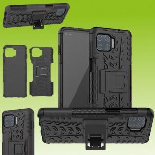 Für Motorola Moto G 5G Plus Hybrid Case Outdoor Schwarz Handy Tasche Etuis Hülle