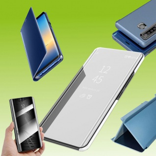 Für Sony Xperia 5 II 2. Gen View Smart Cover Silber Handy Tasche Etuis Wake UP