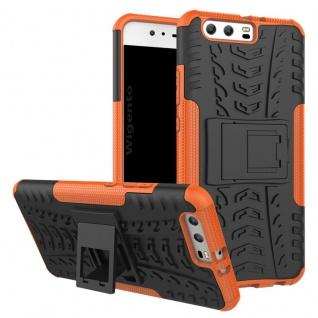 New Hybrid Case 2teilig Outdoor Orange für Huawei P10 Plus Tasche Hülle Cover
