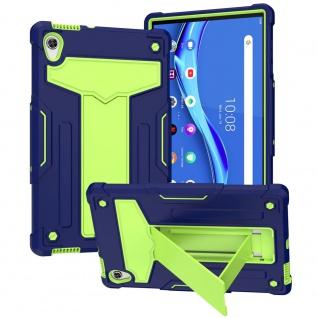 Für Lenovo Tab M10 HD 2nd Gen aufstellbare Tablet Tablet Schutzhülle Grün Etuis