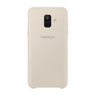 Samsung Dual Layer Cover EF-PA600CFEGWW für Galaxy A6 A600 2018 Tasche Gold Neu