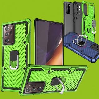 Für Samsung Galaxy Note 20 Ultra Hybrid Case Metall Armor Grün Handy Tasche Etui