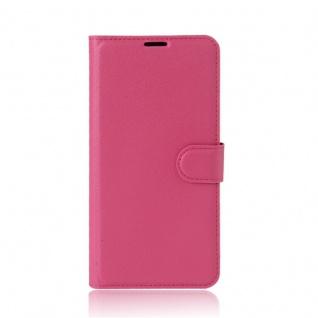 Tasche Wallet Premium Pink für Wiko Upulse Lite Hülle Case Cover Etui Schutz Neu - Vorschau 2