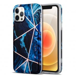 Für Apple iPhone 12 Mini Muster Silikon TPU Handy Tasche Hülle Blau