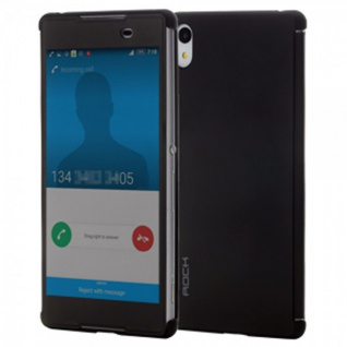 ROCK Shadow Smartcover Schwarz für Sony Xperia Z3 Plus E6553 Dual Tasche Hülle
