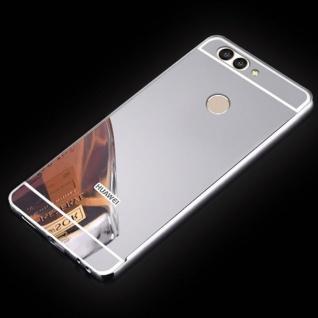 Spiegel / Mirror Alu Bumper 2teilig Silber für Huawei Nova 2S Tasche Hülle Case