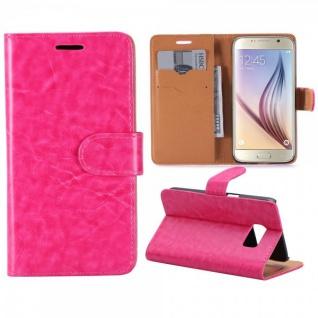 Schutzhülle Pink für Samsung Galaxy S7 G930 G930F Bookcover Tasche Hülle Case