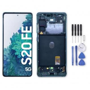 Samsung Display LCD Kompletteinheit für Galaxy S20 FE 5G GH82-24214D Grün