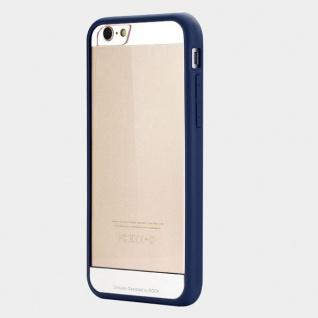 Original Rock Hybrid Bumper Faceplate Blau für Apple iPhone 6 Plus 5.5 Case Neu